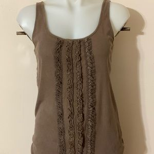 Old Navy Brown Ruffle Blouse Med